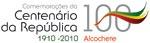 Logótipo Comemorações Centenário da República em Alcochete